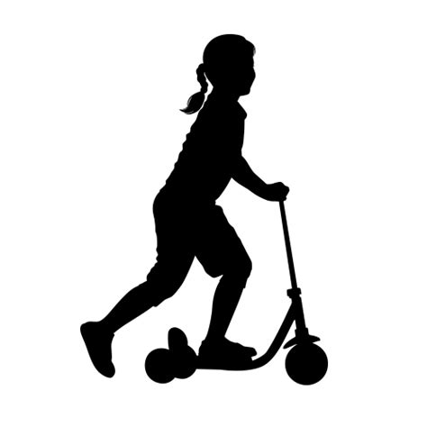 Superman Wall Stickers full size girl riding scooter wall silhouette children s