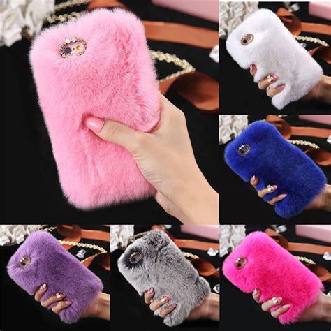 Softcase Rabbit Fur Series Iphone 6 6s 1 luxury rabbit fur rhinestone cover for iphone 6 6s plus ebay