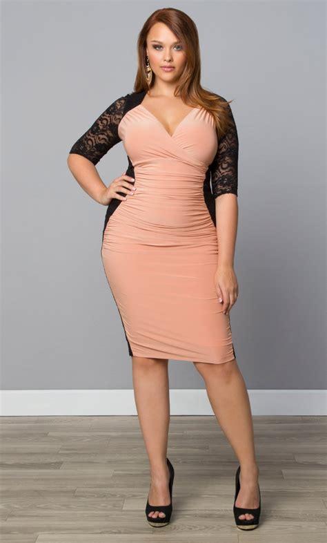 Plus Size Of The Dresses by Plus Size Dresses Kiyonna Plus Size Cocktail Dresses