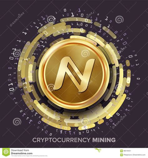 cryptocurrency mining and trading information and how to guide for and profit money with the use of a computer and the books mining namecoin cryptocurrency vector golden coin
