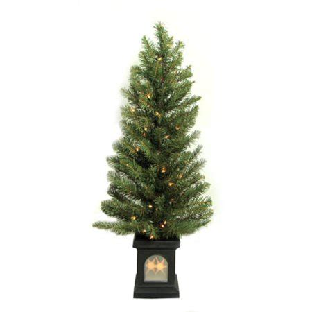 walmart christmas trees potted 4 potted pre lit virginia pine artificial tree clear lights walmart