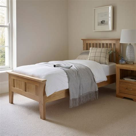Country Manor House 5707 by Bevel Single Bed In Solid Oak Oak Furniture Land
