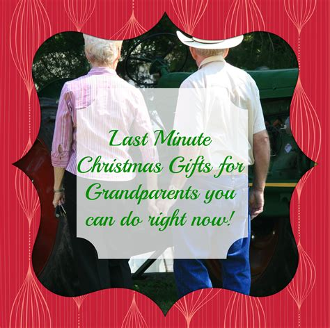 christmas gifts for soon to be grandparents last minute gifts for grandparents you can do right now
