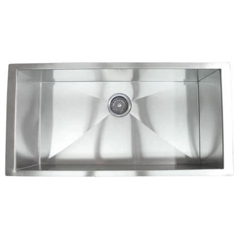 Zero Radius Kitchen Sink 36 Inch Stainless Steel Undermount Single Bowl Kitchen Sink Zero Radius Design