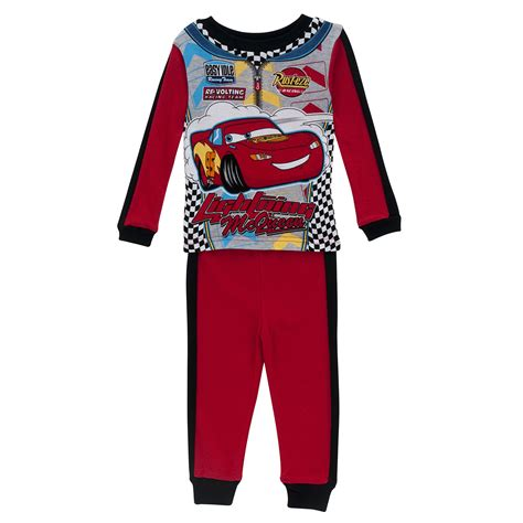disney cars toddler boy s lightning mcqueen pajamas 2 pack tv s box