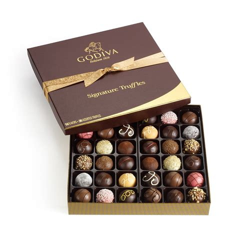 godiva chocolate 36 pc signature chocolate truffles gift box classic