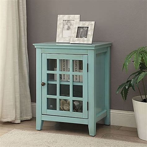 bathroom accent cabinet buy linon home decor largo accent cabinet in turquoise