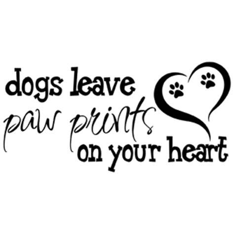 Home Decor Ebay dogs leave paw prints on your heart quote vinyl wall decal