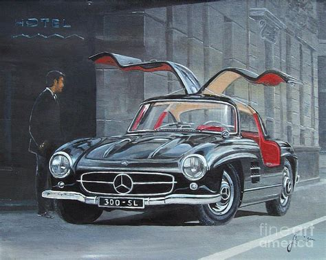 Home Decor Apps For Ipad 1954 Mercedes Benz 300 Sl Gullwing Painting By Sinisa Saratlic