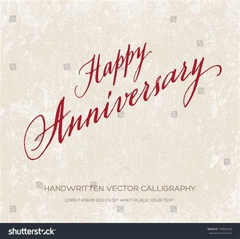 Marriage Anniversary Card Vector by Happy Anniversary Vector Greeting Card Poster Stock Vector