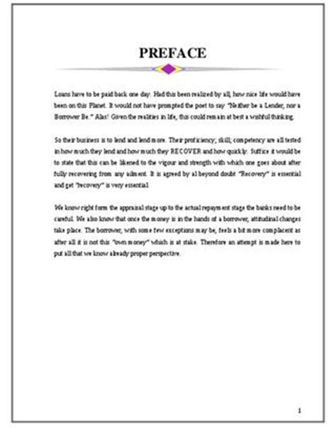 Project Report On Hotel Industry Mba by Preface For Project Report Www Pixshark Images