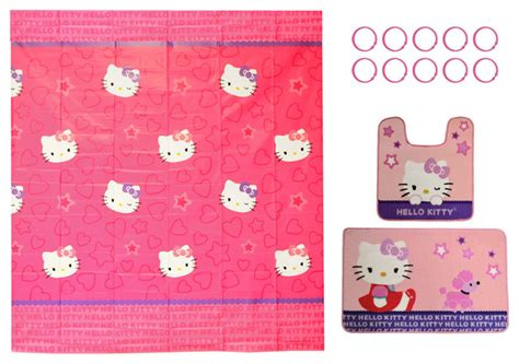 hello bathroom accessories hello bathroom sanrio poodle shower curtain rugs set