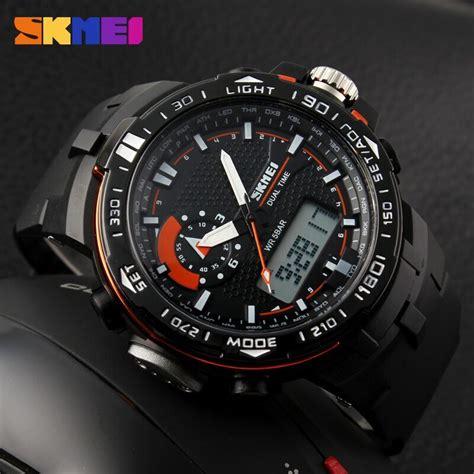 Ready 4 Pilihan Warna Jam Tangan Sport Pria New Rubber skmei jam tangan sport pria ad1081 black orange jakartanotebook