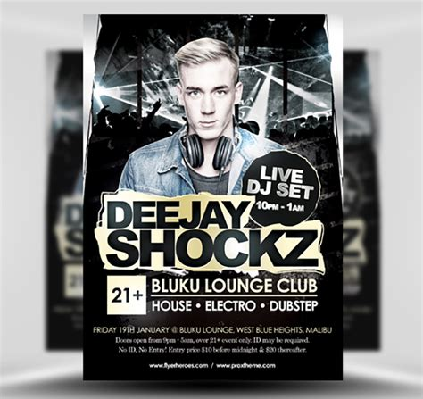 Dj Flyer Template shockz dj flyer template flyerheroes