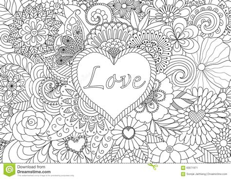 heart on flowers stock vector image 65671971