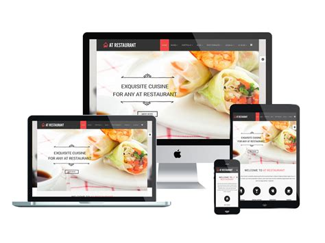 Top Best Free Restaurant Website Templates For Joomla 2018 Responsive Joomla And Wordpress Themes Restaurant Website Template With Ordering