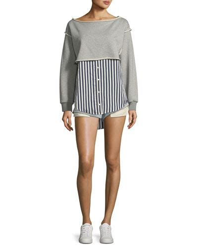 rolled boat neck dress t by alexander wang women s clothing at neiman marcus