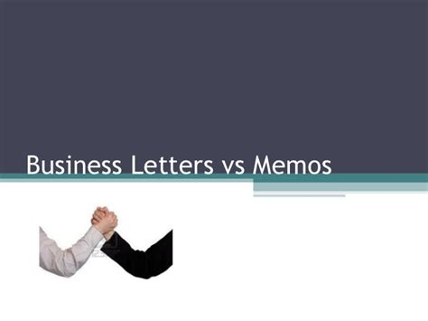 Business Letter Vs Formal Letter Letter Memo