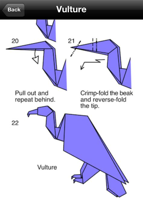 Origami Vulture - app shopper origami birds reference