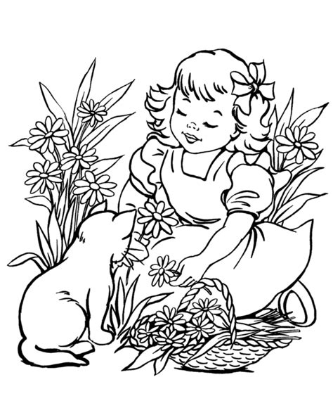 coloring pages of animals and flowers spring flowers pictures free az coloring pages