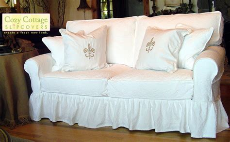 how to make a slip cover for a couch cozy cottage slipcovers home