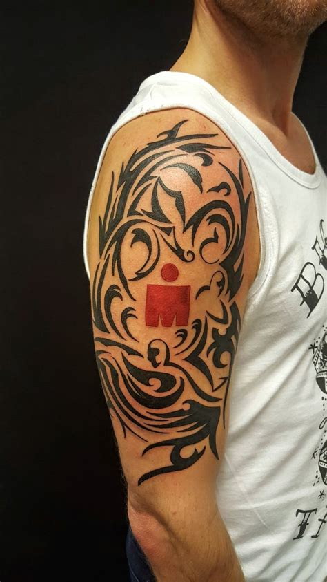 design my own tattoo sleeve 15 best triathlon tattoos images on ironman