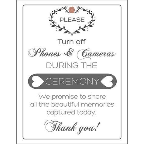 Custom Motif Kamera unplugged wedding sign motif no cellphones no