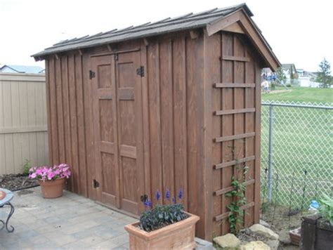 Thin Shed Thin Wall Garden Shed Rustic By Kiefer Homerefurbers