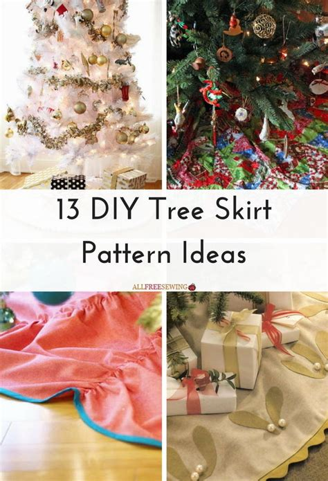 how big should a tree skirt be 13 diy tree skirt pattern ideas allfreesewing