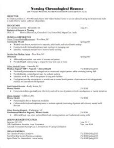 sle of chronological format resume chronological resume ideas