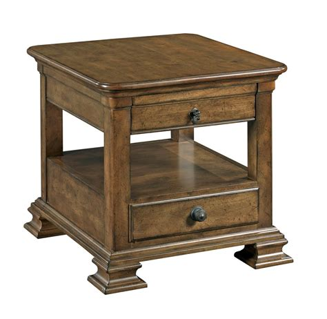 traditional accent tables kincaid furniture portolone traditional rectangular solid