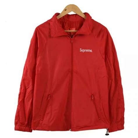 Jaket Zipper Hoodie Supreme Hitam Jaket Supreme Hitam windbreaker zip up jacket designer jackets