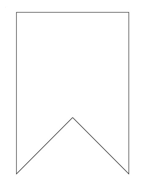 printable bunting template a bunting template use vinyl tablecloth for an outdoor