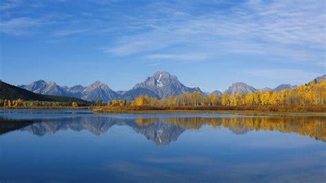 desktop themes reflections beautiful mountain and lake reflection background