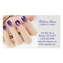 manicure business cards modern girly onbre nail artist nail salon business card