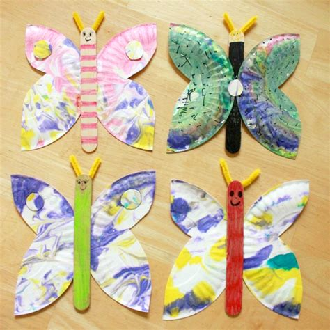Marbled Paper Craft - 50 butterfly crafts you can do with your spaceships