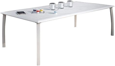 Table De Jardin En Metal 1704 by Table 224 Lattes Azuro En Aluminium Blanc Sand
