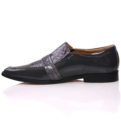 unze mens leather nitin slipons buckled formal