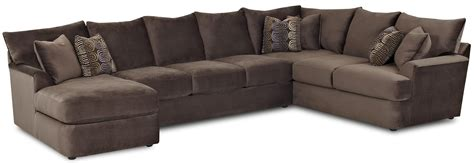 sofa chaise lounge l shaped sectional sofa with left chaise by klaussner