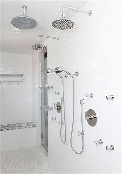 his and shower heads traditional bathroom andrew