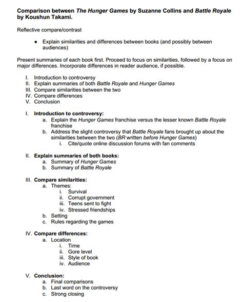 compare and contrast essay template compare and contrast essay outline generator compare and