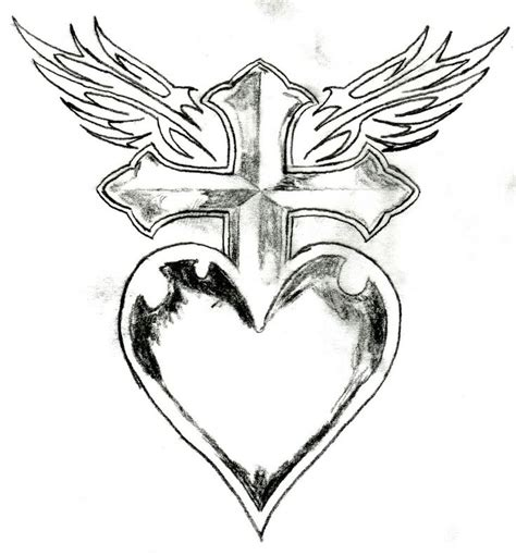 cartoon wing tattoo image detail for cross heart wings picture by mrinkster