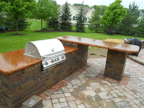 outdoor bar tops g m concrete concrete countertops