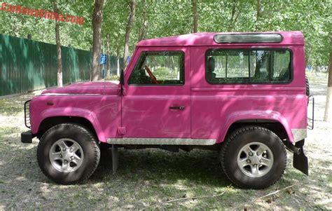 land rover pink land rover defender is pink in china carnewschina com