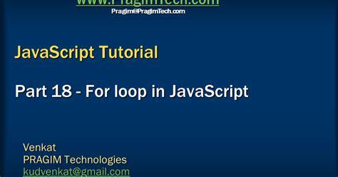 tutorial javascript for loop sql server net and c video tutorial for loop in javascript