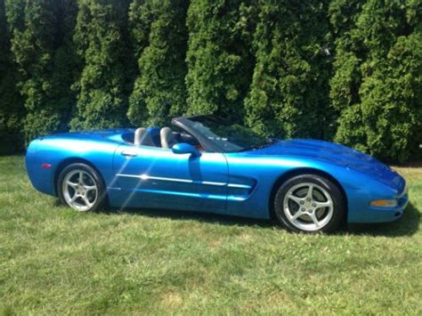2000 blue corvette sell used 2000 corvette convertible nassau blue automatic