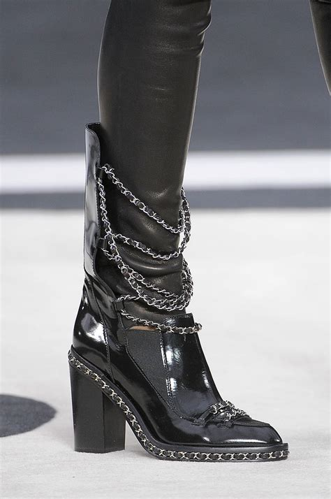 chanel boots chanel fall 2013 chain boots