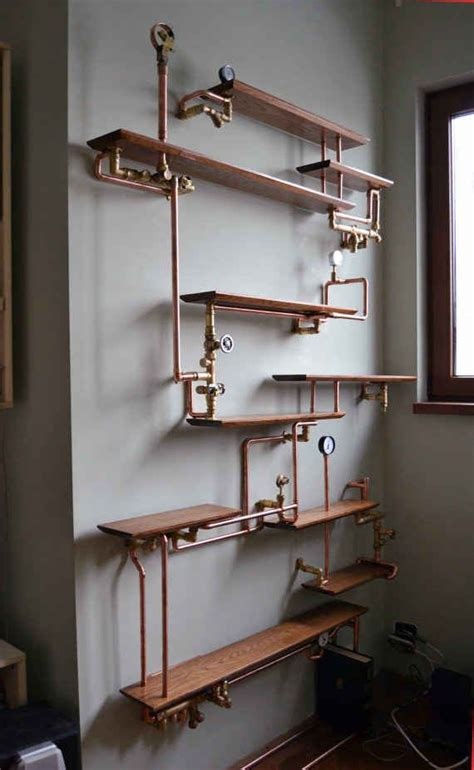 regal rohre this copper pipe bookshelf kupferrohr regal und m 246 bel