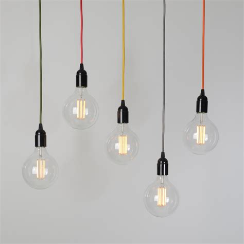 pendant bulb lighting inch globe ceiling light fixture world hanging glass