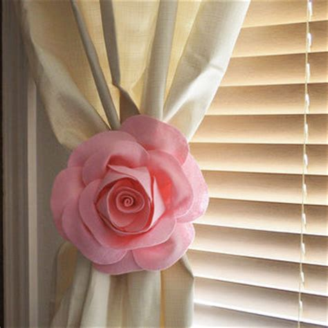 rose curtain holdbacks best mint and coral decor products on wanelo